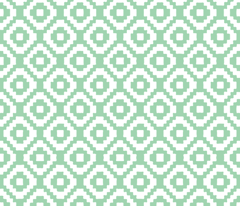 RETIRING 8/1/17 seafoam giant aztec fabric by ivieclothco on Spoonflower - custom fabric