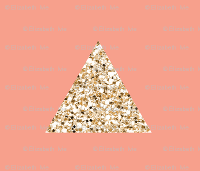 gold sparkle v. I triangles on geranium