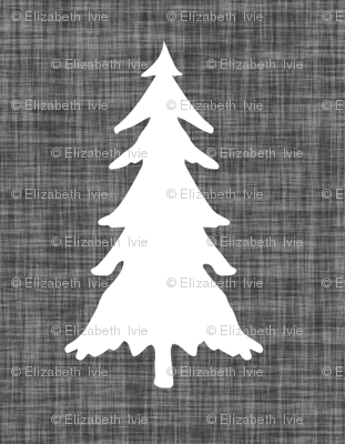 trees // charcoal linen