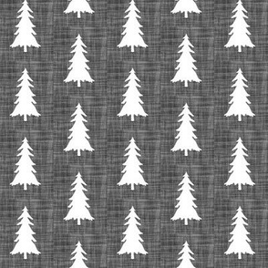 trees // charcoal linen