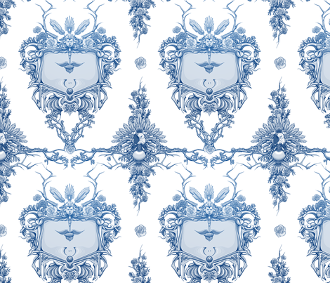 Toile de Eagle fabric by mcclept on Spoonflower - custom fabric