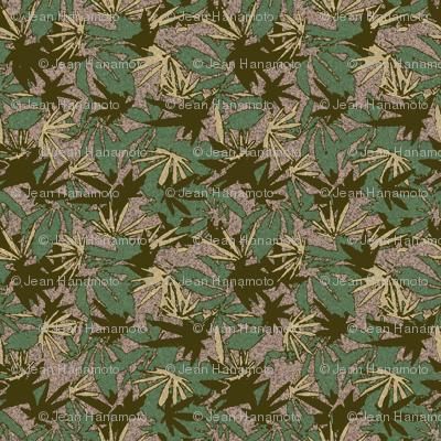 Marijuana Camo Green Woodland