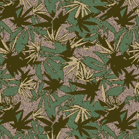 Marijuana Camo Green Woodland fabric by camomoto on Spoonflower - custom fabric