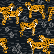 Cheetah - Black/Turmeric by Andrea Lauren