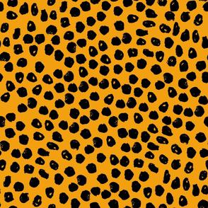 dot // dots fabric yellow fabric golden yellow fabric andrea lauren design