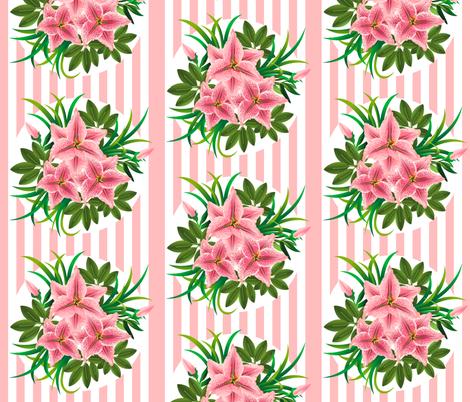 Lilies bouquets fabric by ksanask on Spoonflower - custom fabric