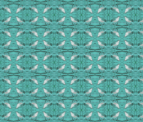 Black Teal Birds fabric by peaceofpi on Spoonflower - custom fabric
