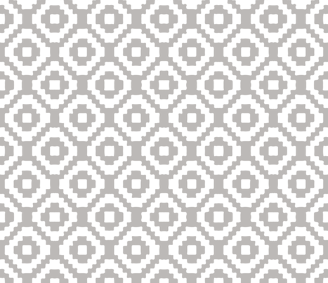 RETIRING 8/1/17 light gray giant aztec fabric by ivieclothco on Spoonflower - custom fabric