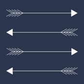 tiny navy horizon arrow