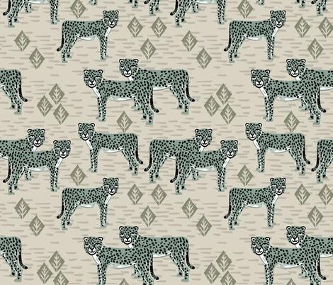 Cheetah - Raf Blue by Andrea Lauren fabric by andrea_lauren on Spoonflower - custom fabric