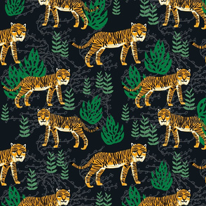 Safari Tiger - Turmeric/Kelly Green by Andrea Lauren