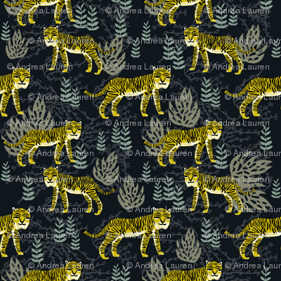 Safari Tiger - Goldenrod/Olive/Raf Blue by Andrea Lauren