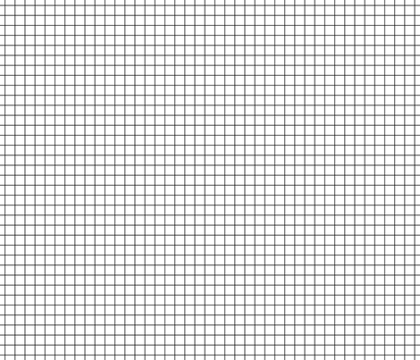 Black On White Medium Grid fabric by technoplastique on Spoonflower - custom fabric