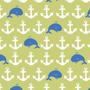 anchors + whales (blue + green)