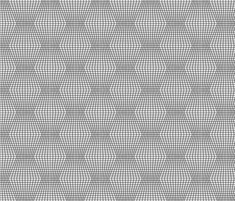 Black On White Warped Grid fabric by technoplastique on Spoonflower - custom fabric