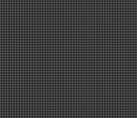 White On Black Small Grid fabric by technoplastique on Spoonflower - custom fabric