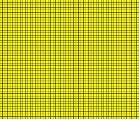 Black On Yellow Small Grid fabric by technoplastique on Spoonflower - custom fabric