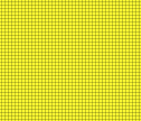 Black On Yellow Medium Grid fabric by technoplastique on Spoonflower - custom fabric