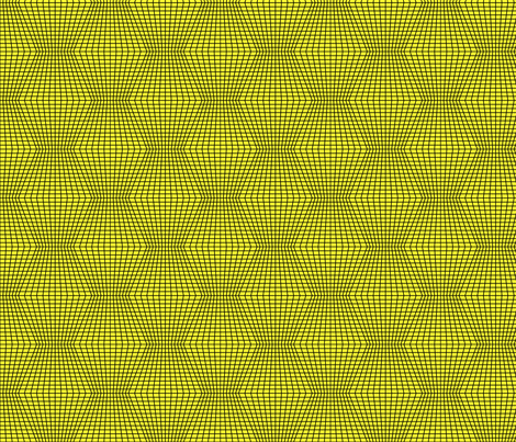 Black On Yellow Warped Grid fabric by technoplastique on Spoonflower - custom fabric