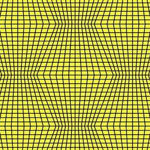 Black On Yellow Warped Grid