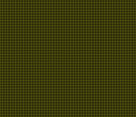 Yellow On Black Small Grid fabric by technoplastique on Spoonflower - custom fabric