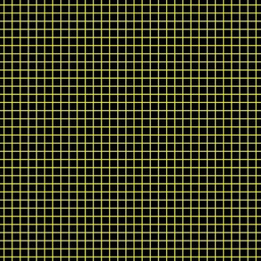 Yellow On Black Small Grid