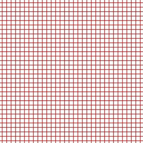 Red On White Small Grid