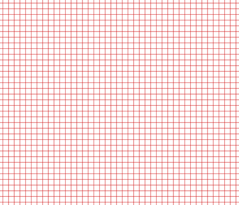 Red On White Medium Grid fabric by technoplastique on Spoonflower - custom fabric