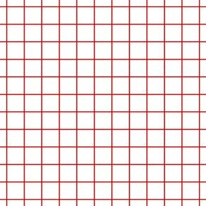Red On White Medium Grid