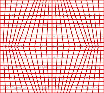 Red On White Warped Grid