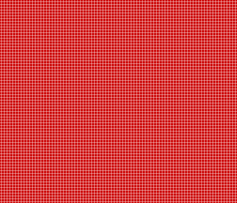 White On Red Small Grid fabric by technoplastique on Spoonflower - custom fabric