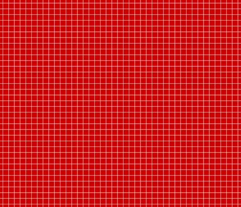White On Red Medium Grid fabric by technoplastique on Spoonflower - custom fabric