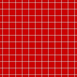 White On Red Medium Grid