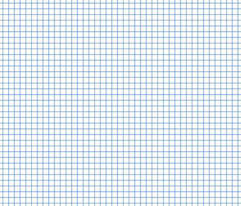 Blue On White Medium Grid fabric by technoplastique on Spoonflower - custom fabric
