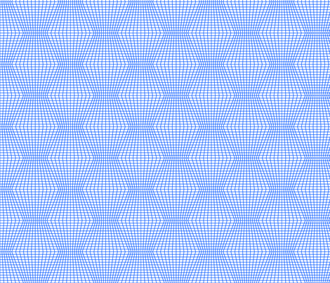Blue On White Warped Grid fabric by technoplastique on Spoonflower - custom fabric