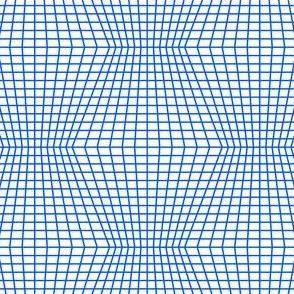 Blue On White Warped Grid