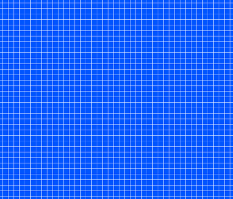 White On Blue Medium Grid fabric by technoplastique on Spoonflower - custom fabric