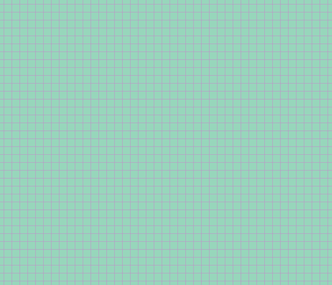 Violet On Mint Medium Grid fabric by technoplastique on Spoonflower - custom fabric