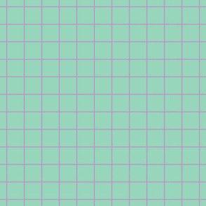 Violet On Mint Medium Grid