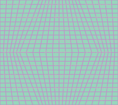 Violet On Mint Warped Grid