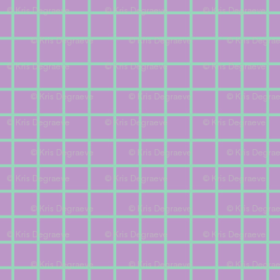 Mint On Violet Small Grid