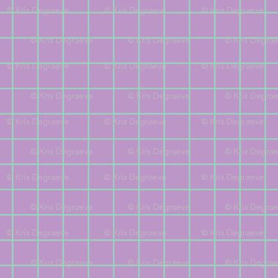 Mint On Violet Medium Grid