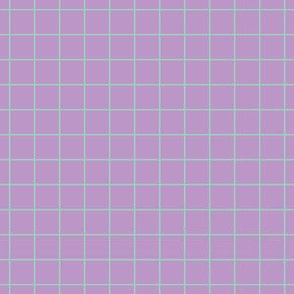 Mint On Violet Medium Grid