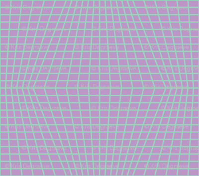 Mint On Violet Warped Grid