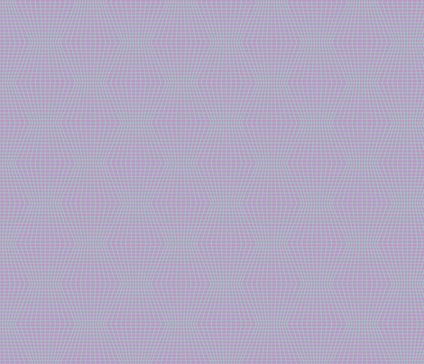 Mint On Violet Warped Grid fabric by technoplastique on Spoonflower - custom fabric
