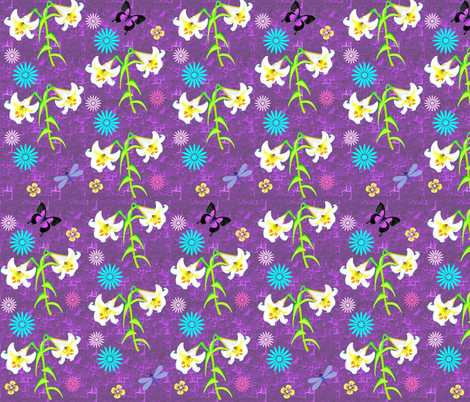Spring Lilies fabric by beamish on Spoonflower - custom fabric