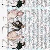 Pride and Prejudice ~ Counterdanse ~ Border Print ~ Jane Austen Quotes Damask