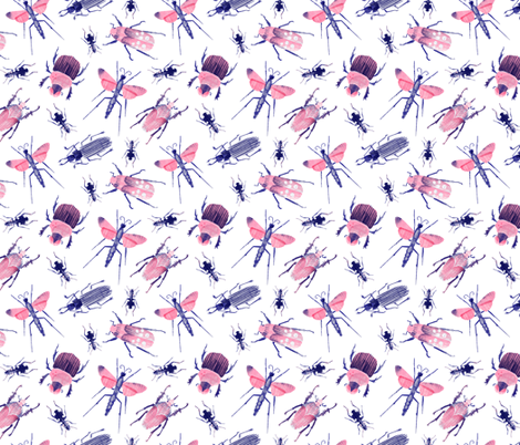 Beetle collection fabric by wideeyedtree on Spoonflower - custom fabric