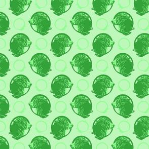 Collared Bernese Mountain dog portraits - green