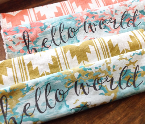 hello world burp cloths + loveys // coral